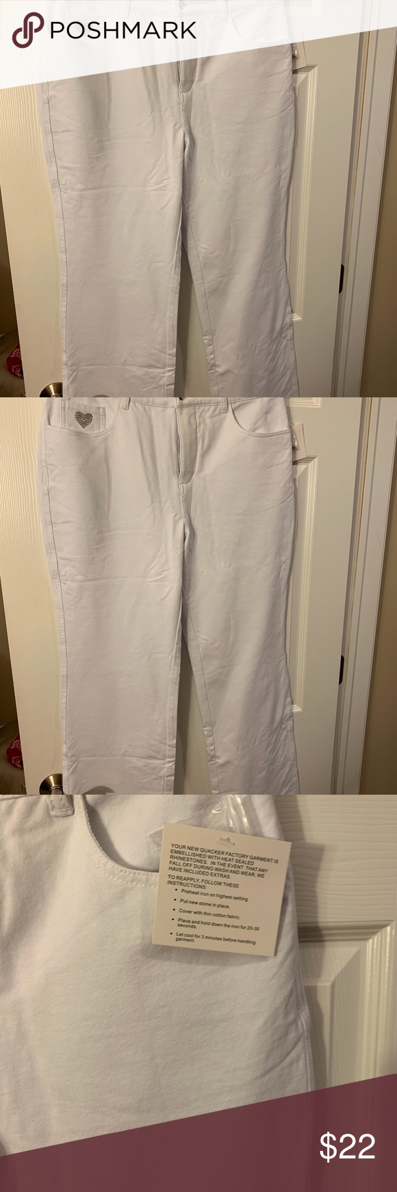Quicker Factory Dream Jeans 12tall White Jeans From Quacker Factory Size 12 Tall See Qvc Size Chart These Jeans Str Dream Jeans Quacker Factory Stretch Jeans
