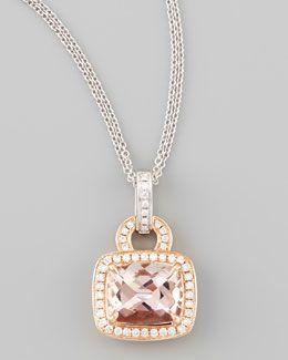 Frederic Sage Roma Morganite & Diamond Pendant Necklace wqRdyJCp