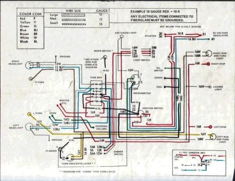 wire diagram for 12 volt conversion ignition on vw - Google Search