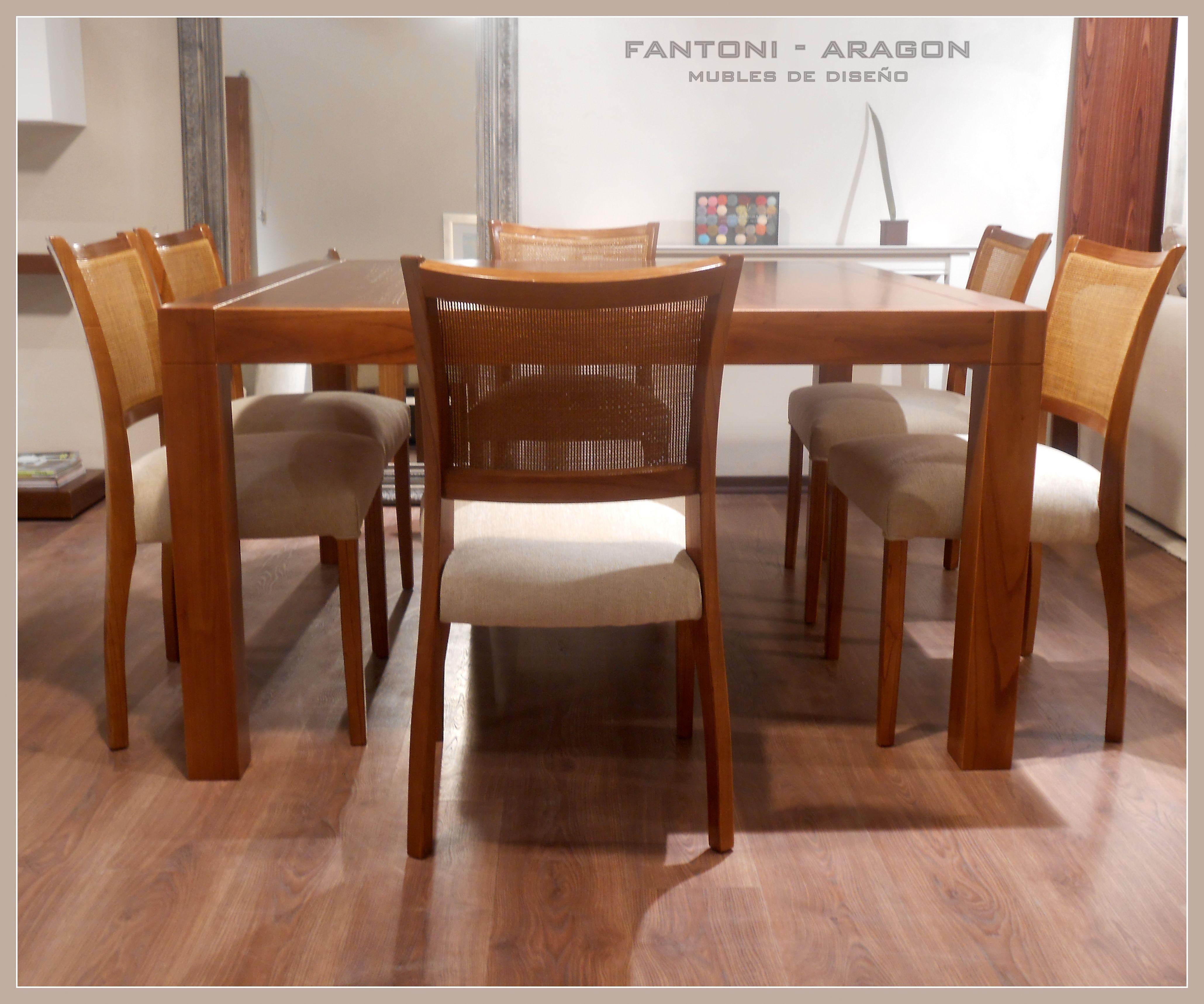 Fantoni Aragon. Diseño interior. Juego de comedor de madera paraíso ...
