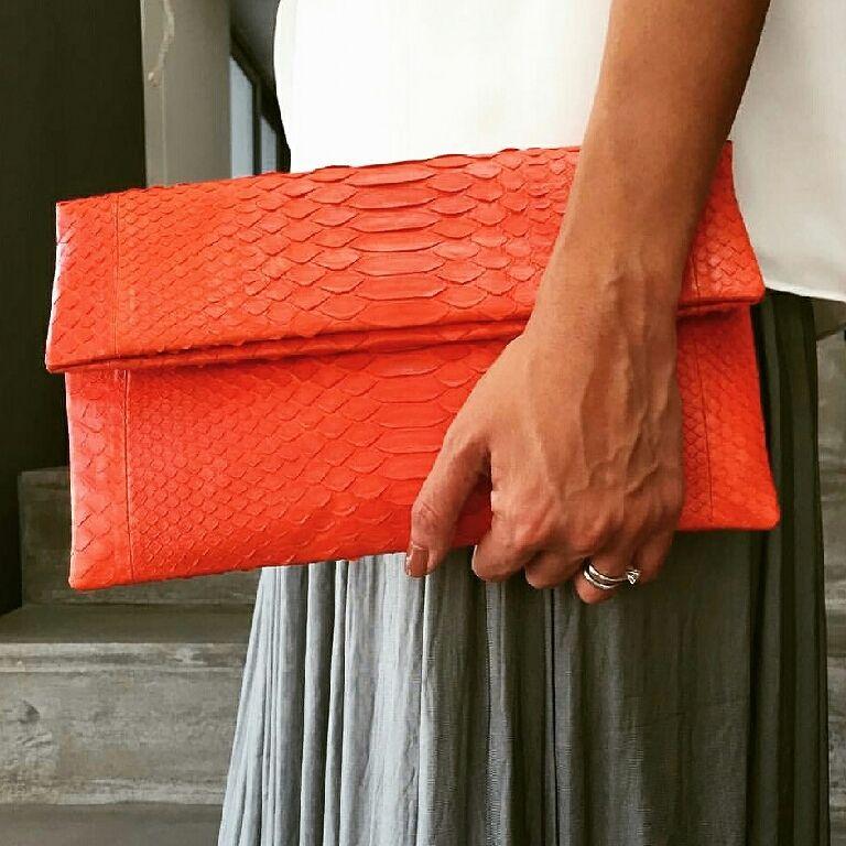 e9bed872b9c5 Купить Клатч из кожи питона - маленькая сумочка, вечерняя сумка, сумка  ручной работы