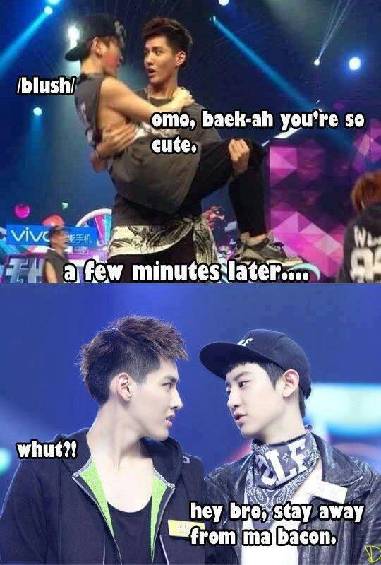 jealous | exo | Exo, Exo chanbaek, Exo memes