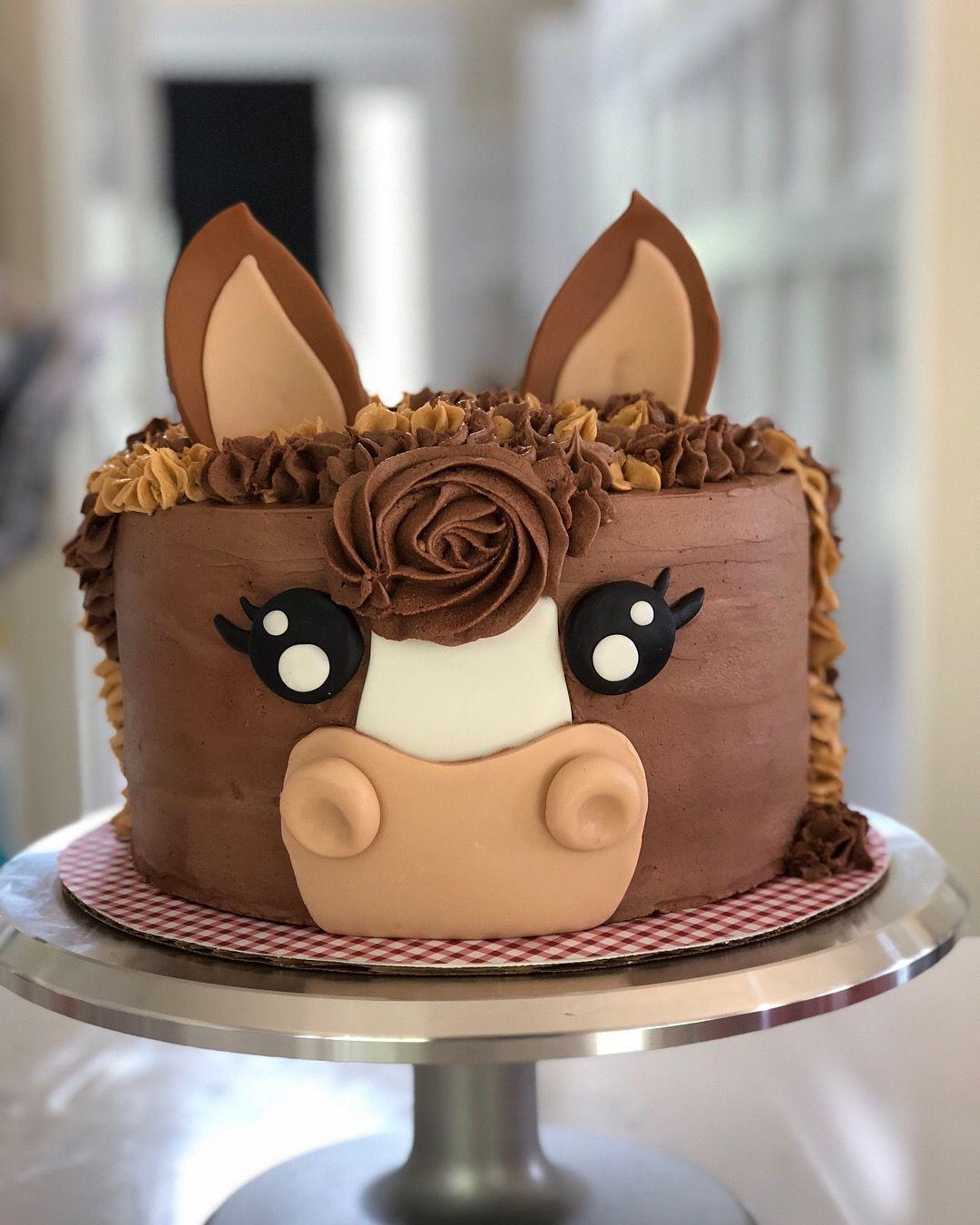 Horse Cake Pony Cake Birthday Cake Horse Baking In