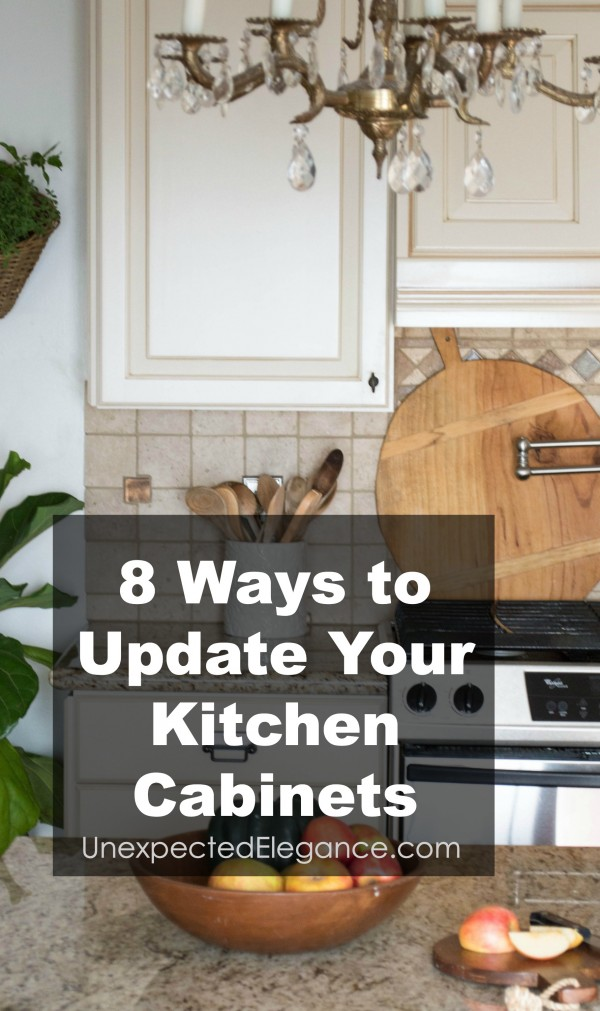 8 Ways to Update Kitchen Cabinets - Update kitchen cabinets, Updated kitchen, New kitchen cabinets, Latest kitchen ideas, Kitchen remodel, Kitchen cabinets - Does your kitchen need an update, but you can't afford to ripe out the cabinets  Check out these 8 ways to update kitchen cabinets without spending a fortune!