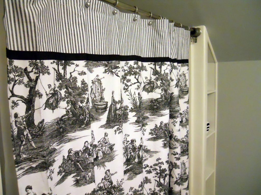 Black And White Toile Shower Curtain
