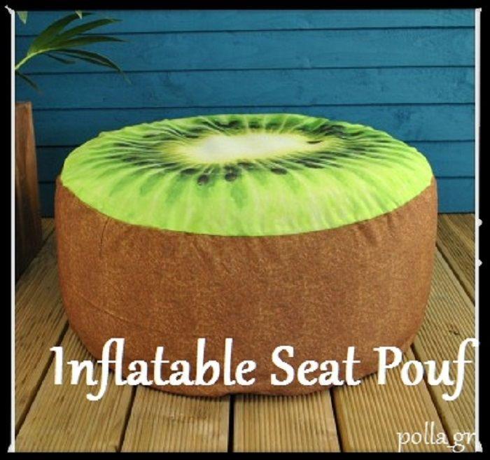 Garden Seat Pouffe Footstool Ottoman Inflatable Furniture Indoor Outdoor  Patio