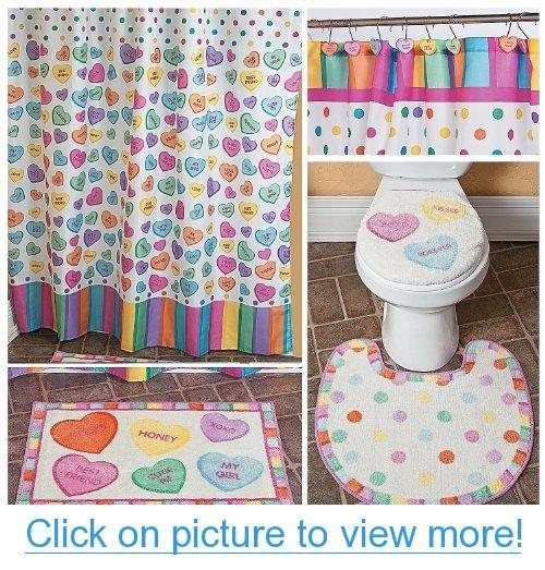 Conversation Hearts Bathroom Collection Bathroom Valentine S Day Decor Conversatio Converse With Heart Bathroom Collections Valentines Conversation Hearts