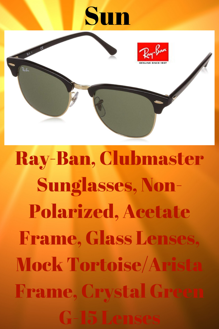 b40f4ee261ba2 Color  Mock Tortoise  Arista CLASSIC CLUBMASTER SUNGLASSES  The Ray-Ban  Clubmaster has