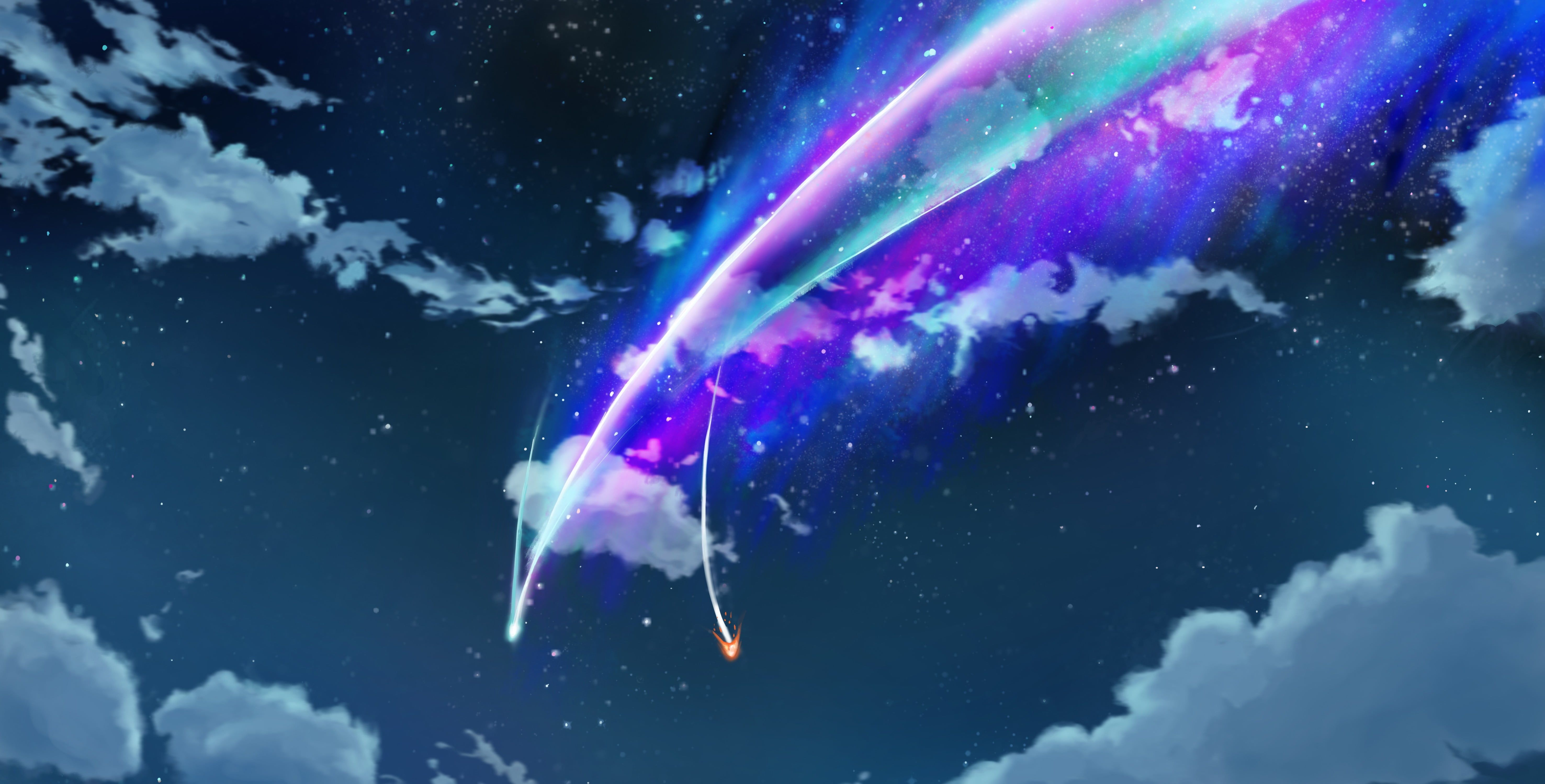 Clouds Photo Your Name Meteor Movie Still Kimi No Na Wa Night Clouds Comet 5k Wallpaper Hdwallpaper Kimi No Na Wa Clouds Photo Kimi No Na Wa Wallpaper