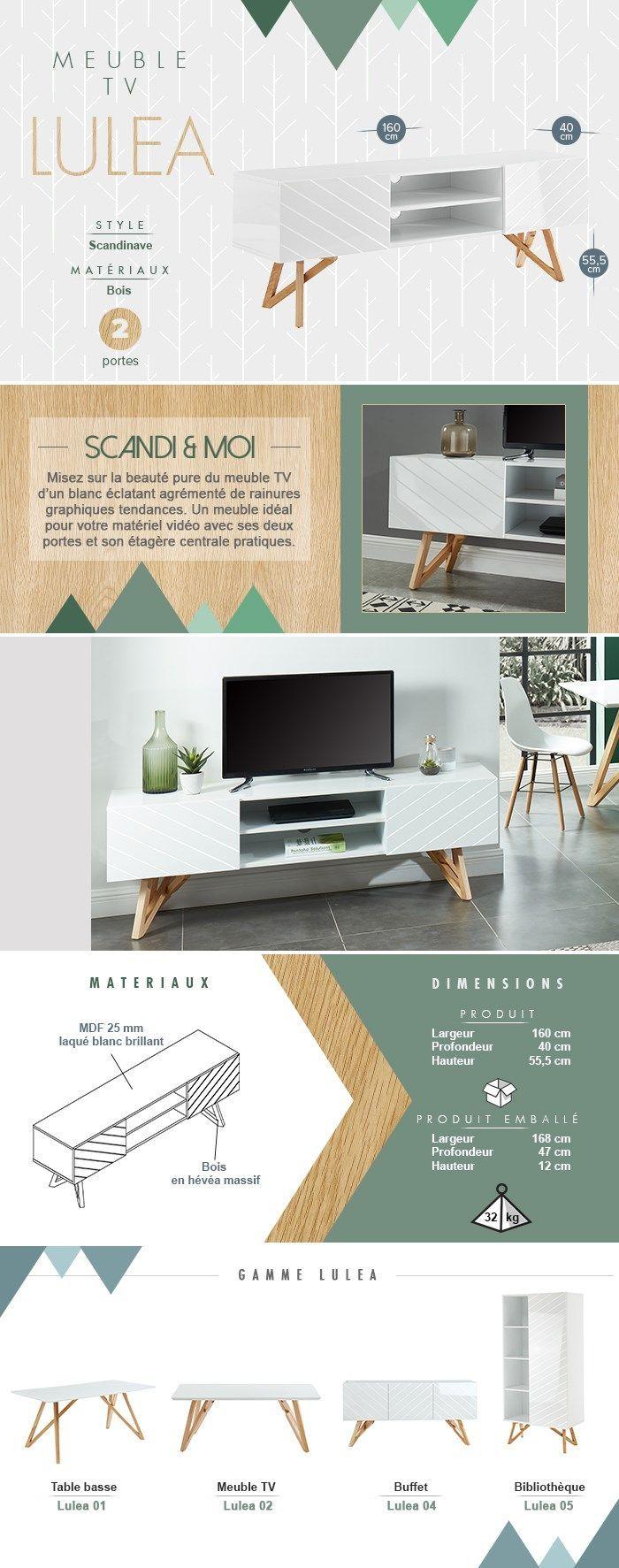 Meuble Tv Scandinave Bois En 2020 Meuble Tv Decoration Meuble Tv Petit Meuble Tv