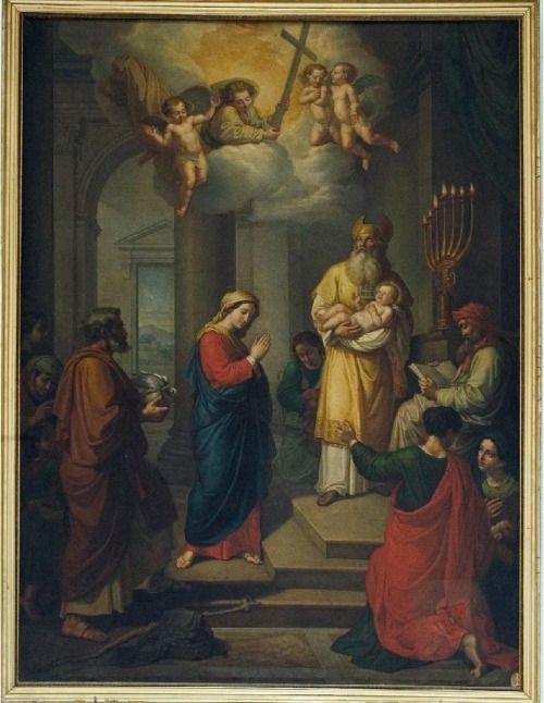 Raffaele Postiglione, Presentazione di Gesù al Tempio, XIX sec., Napoli