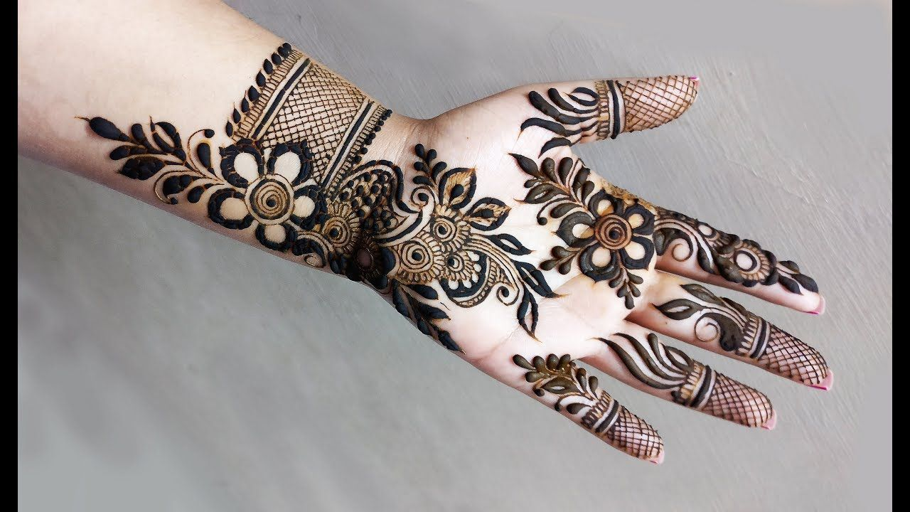 Front Hand Mehndi Designs Latest