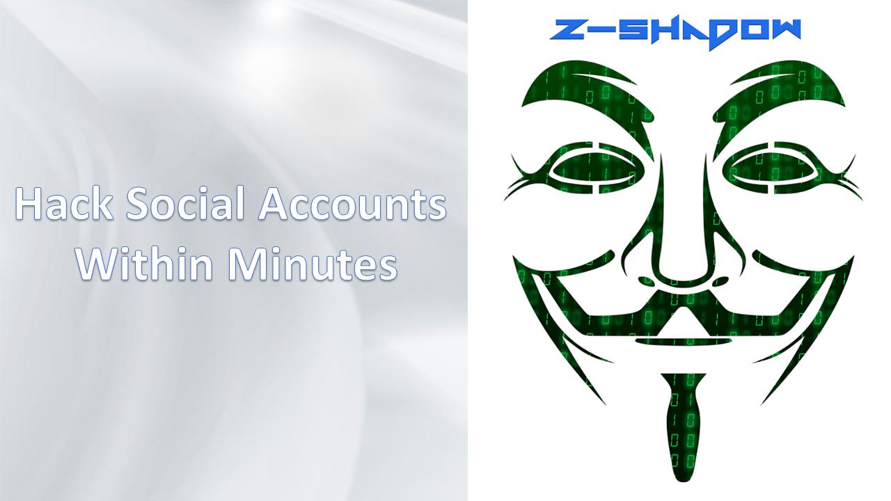 Z Shadow: Hack Facebook in Minutes 2017 | Web Development