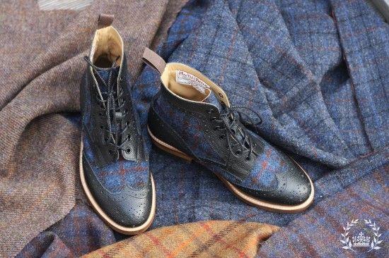 Harris Tweed Upper Boots #PatronSaint http://patronsaint5.blog.me/120171790219