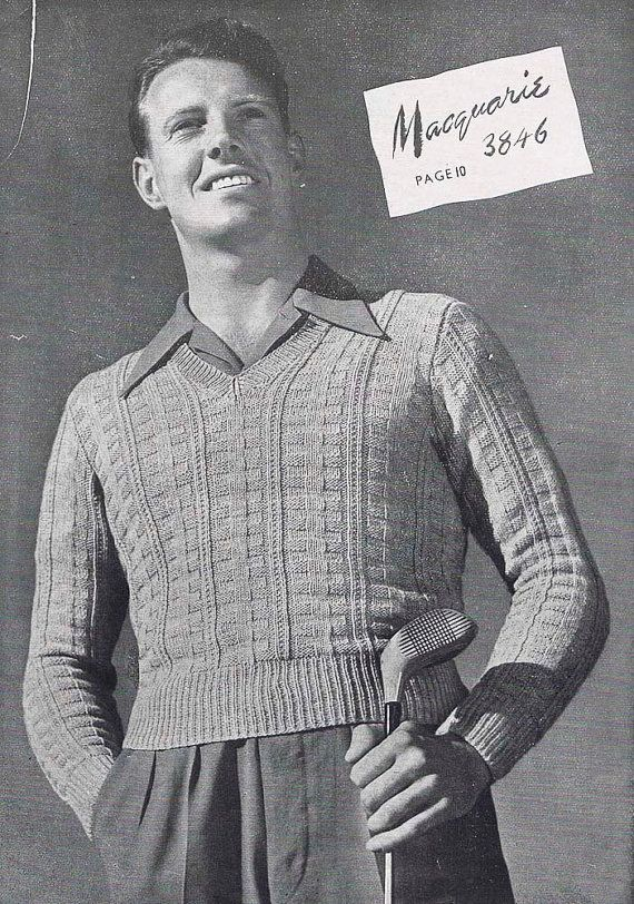 Knitting Patterns For Men Sweaters Cardigans Fancy Stitch Jumpers