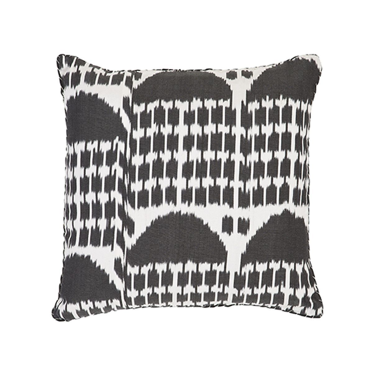 Black Gobi Ikat Pillow Madeline Weinrib Pillows Ikat Pillows
