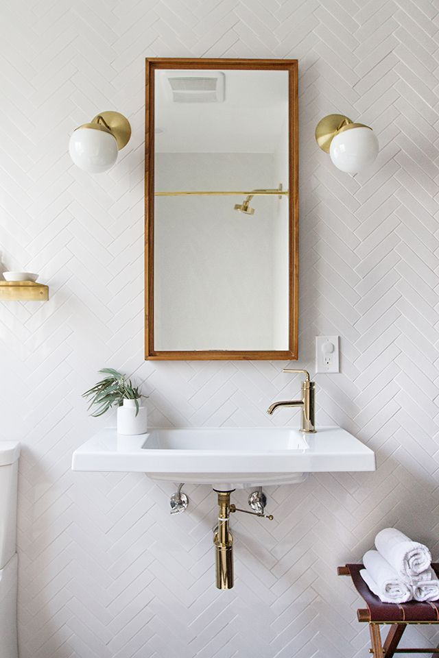 Tile and brass