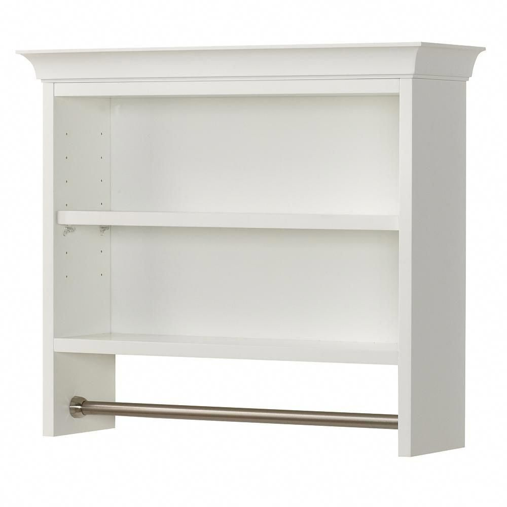 Home Decorators Collection Creeley 7 1 20 In L X 20 1 2 In H X 24 In W Wall Mount 2 Tier Bathroom Shelf With Bathroom Shelves Shelves Bathroom Wall Shelves