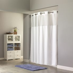 Hookless Shower Curtain With Removable Liner From Lowes Hookless Shower Curtain White Shower Curtain Curtains