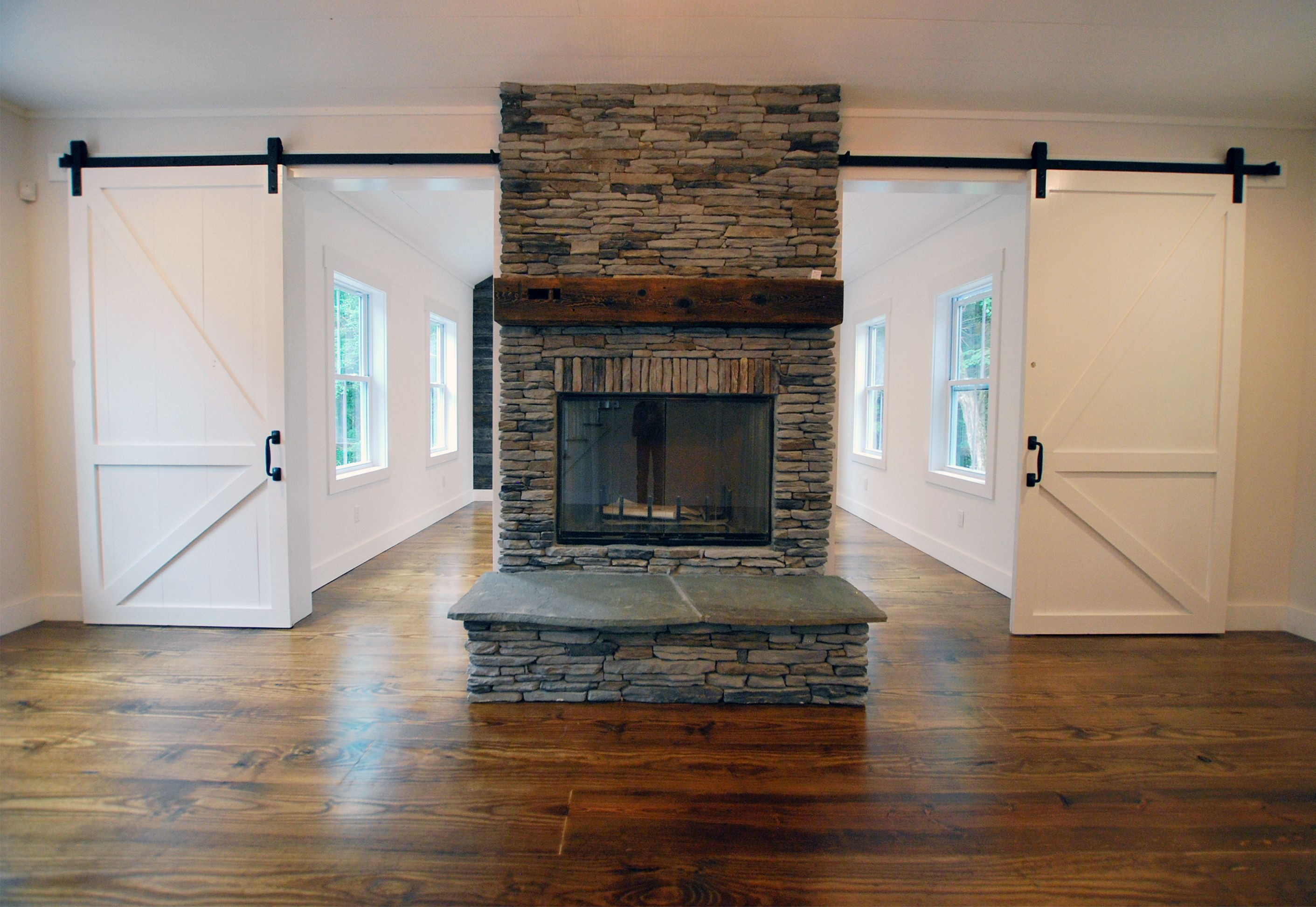Pennsylvania Laurel Cavern Ledge With A Salvaged Mantel Catskillfarms Fireplace Farmhouse Style House Cool Furniture