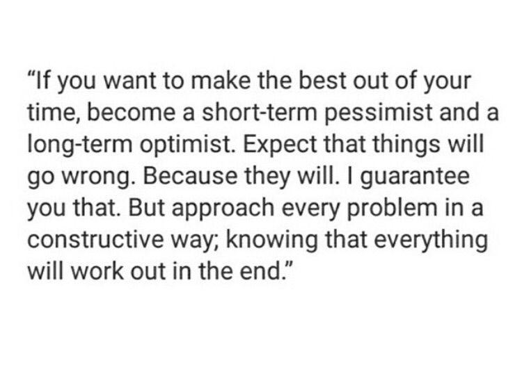 Short term pessimistic, long term optimistic...