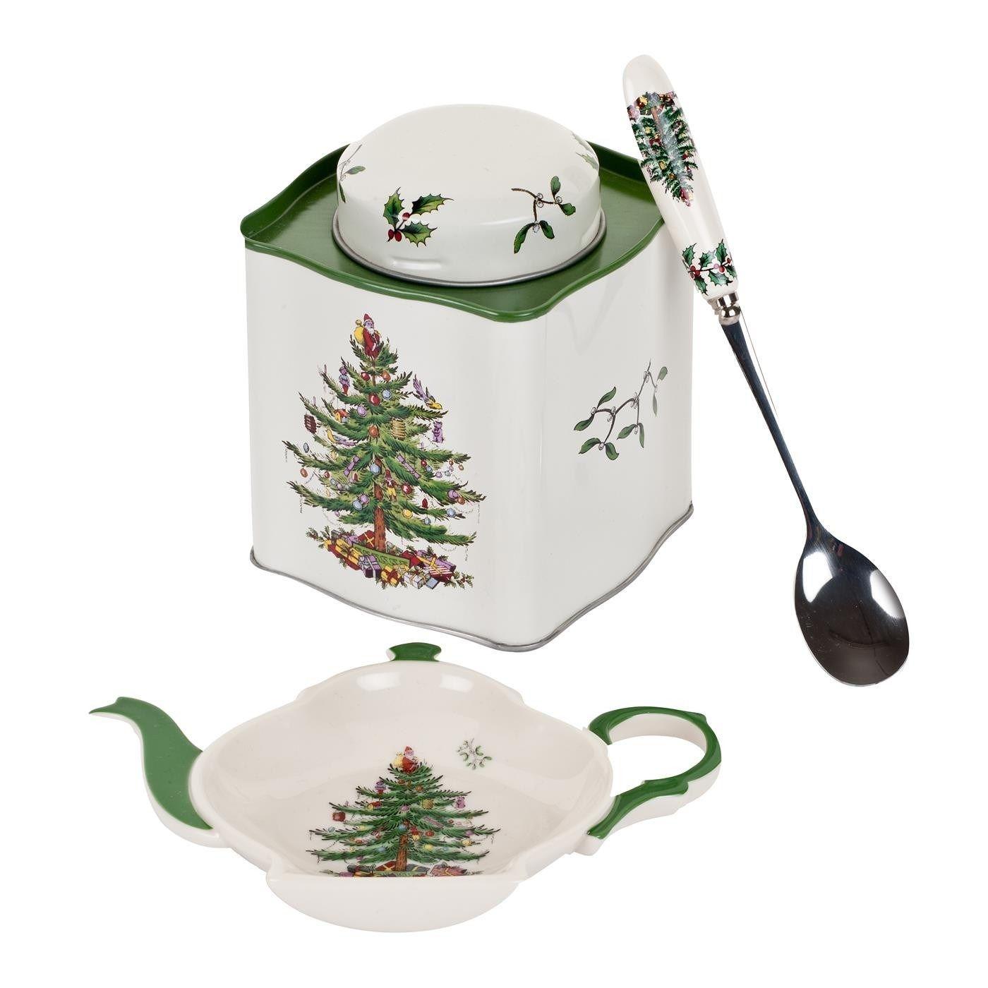 Pimpernel 2019008338 Christmas Tree 3 Piece Tea Set Spode Christmas Spode Christmas Tree Christmas Tableware