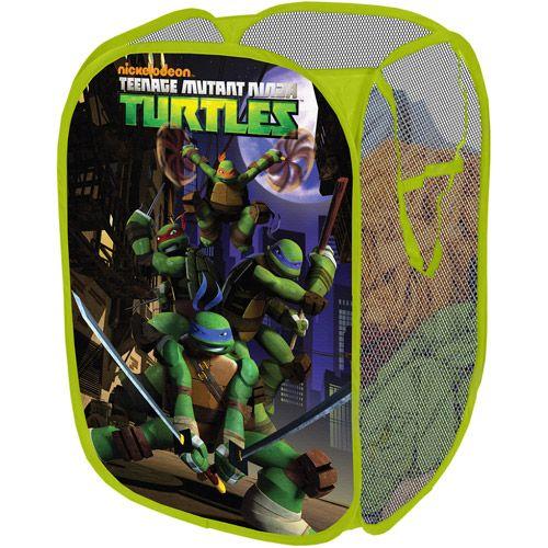 Nickelodeon Teenage Mutant Ninja Turtles Collapsible Storage Pop Up Hamper Walmart Com Turtle Room Ninja Turtle Bedroom Turtle Bedroom