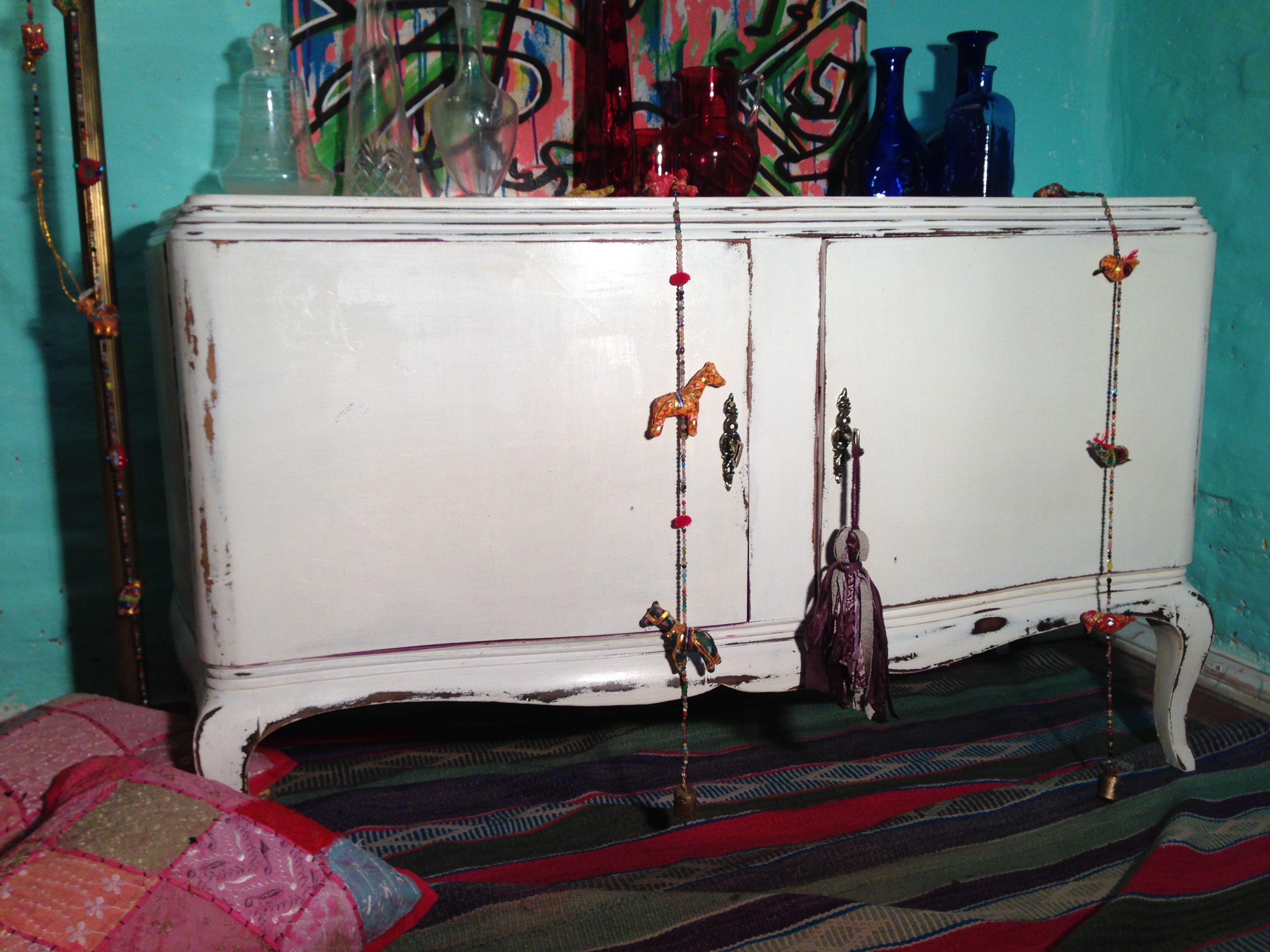 Mueble Bajo Frances Decapado Muebles Viejos Pinterest  # Rejuvenecer Muebles Antiguos