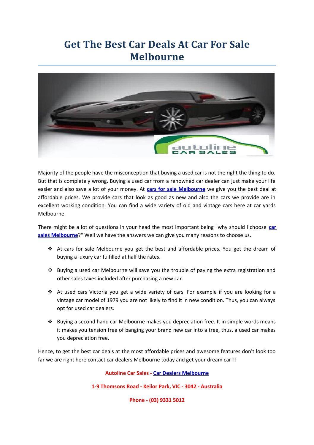 Car dealers melbourne autoline car sales Cars for sale