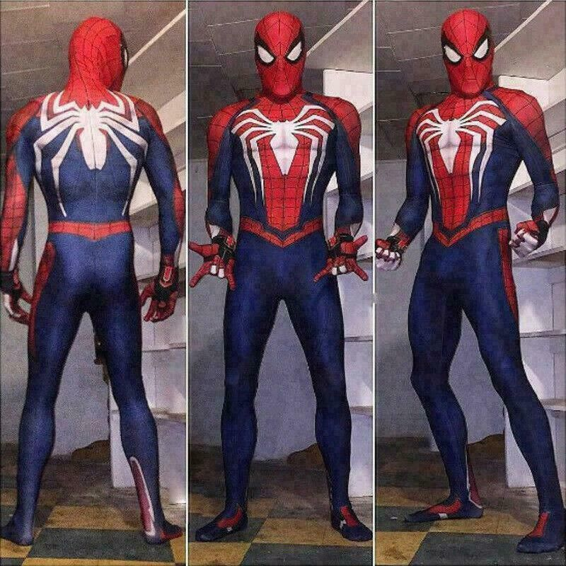 New Ps4 Insomniac Spiderman Suit 3d Print Spandex Games Spidey Cosplay Suit Spiderman Spiderman Suits Halloween Bodysuit