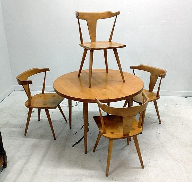 vintage mid century modern set dining room table pinterest