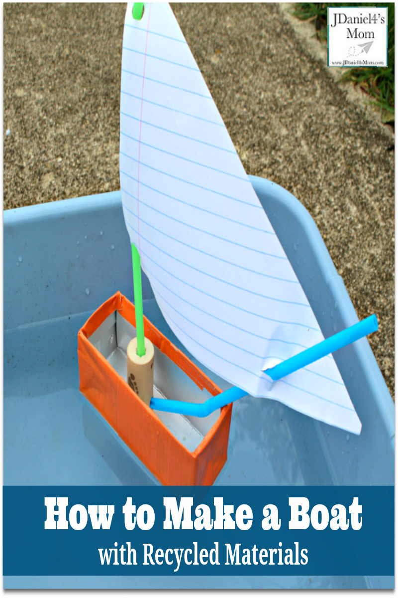 How to make a boat with recycled materials this would be for Cool things to make out of recycled materials