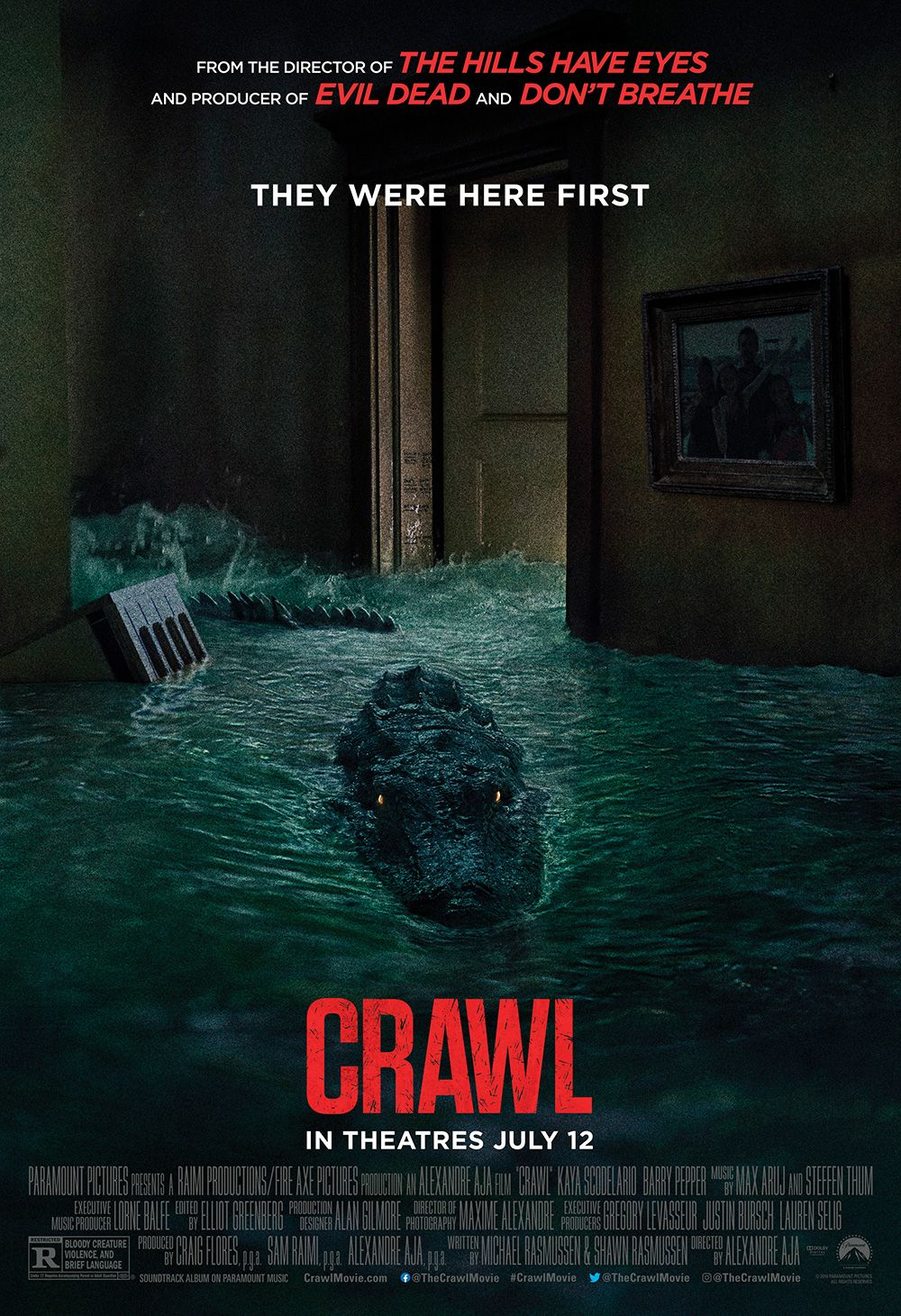 Crawl 2019 1000 X 1461 Com Imagens Cartazes De Filmes