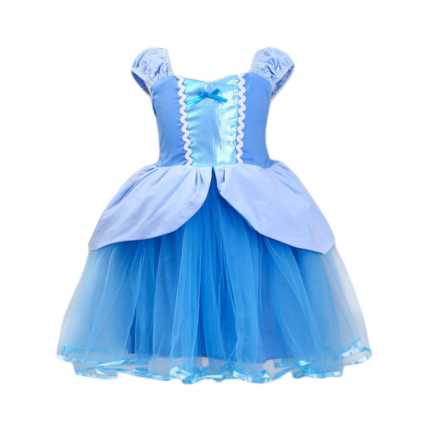 3dd912536 JiaDuo Princess Cinderella Dress Rapunzel Costume Mermaid Dress Up Clothes  for Baby Girls Blue 100 *** Much more information can be located at the  photo ...