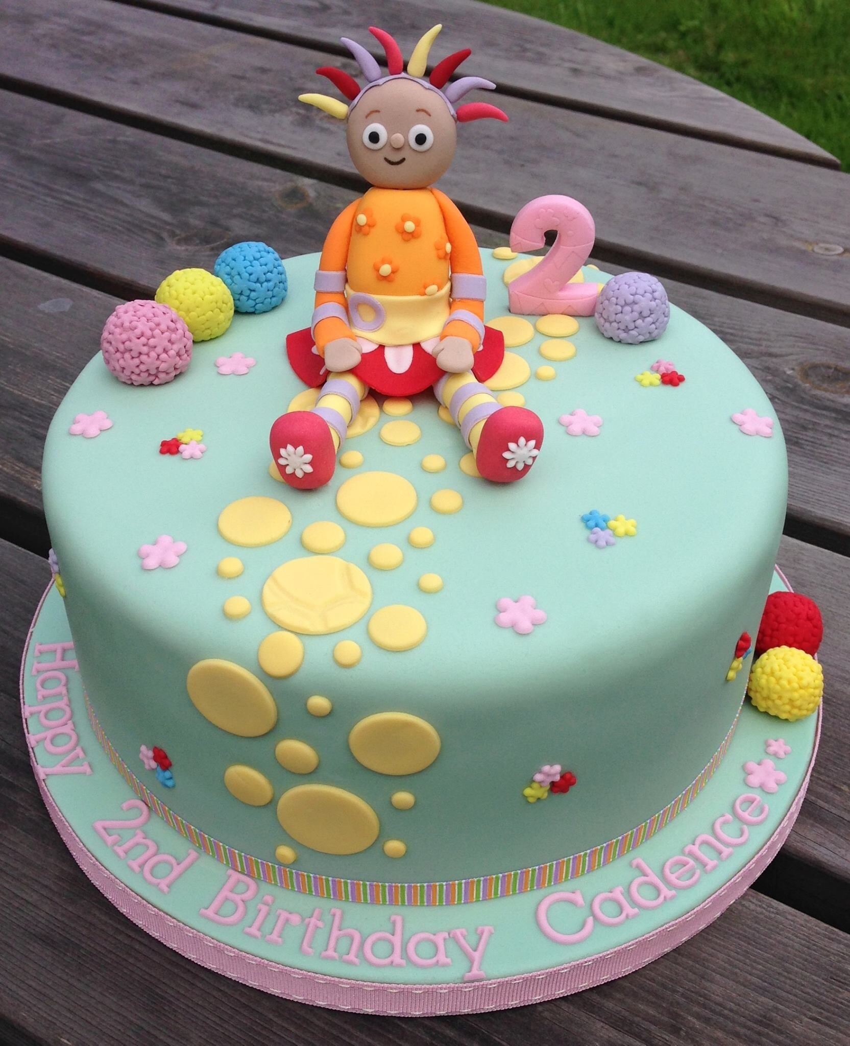 Peachy In The Night Garden Cake With Upsy Daisy Model Cakes By The Cor Funny Birthday Cards Online Elaedamsfinfo