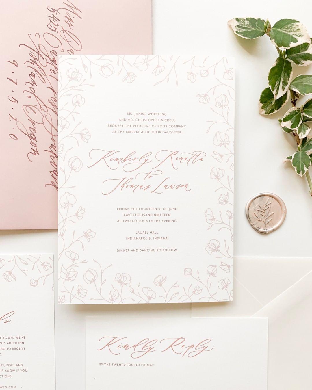 Semi Custom Wedding Invitation Suites