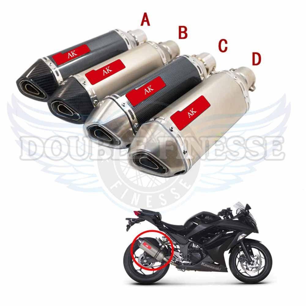 Motorcycle Exhaust Pipe Scooter Muffler For Honglong 300 600 Jog Bws 2006 Honda 125cc Dirt Bike Rsz 125 Msx Zy