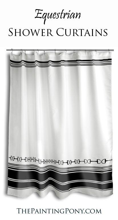 Horse Bit Shower Curtain