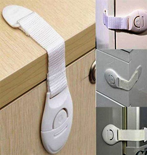 No Drilling Need White, 20 Pack Child Safety Locks,Baby Safety Locks For Toilet,Fridge,Oven,Cupboard,Drawers,Cabinets