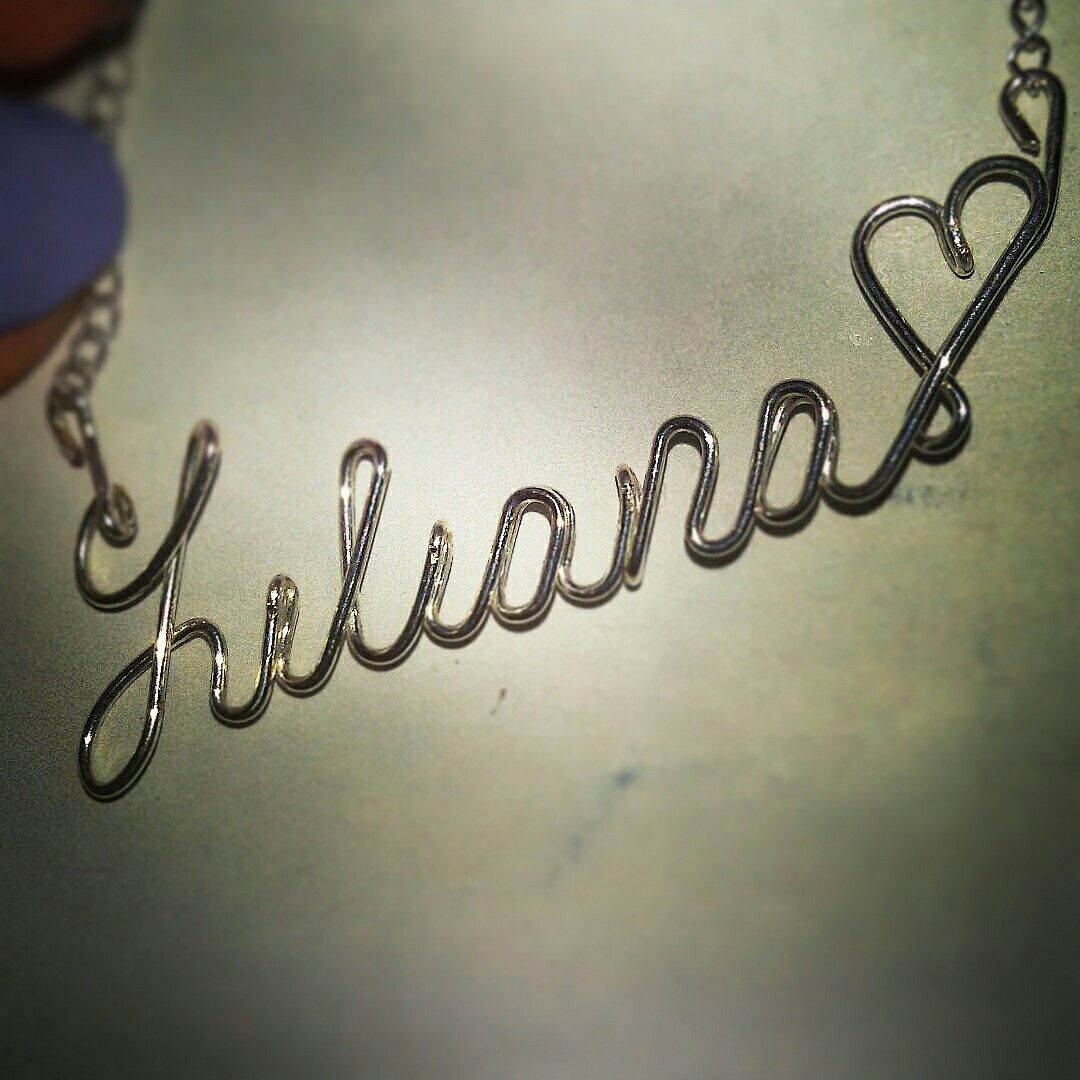 Name necklace liliana (With images)