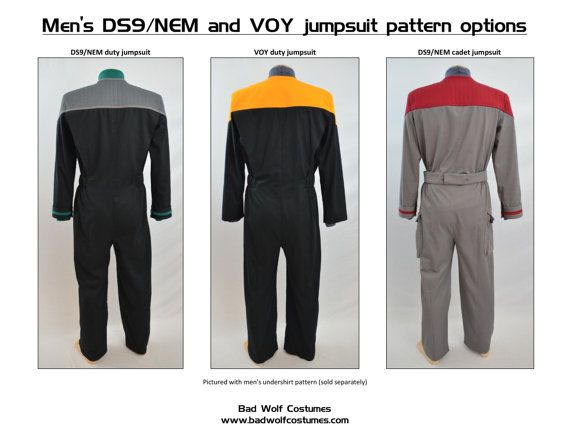Star Trek Sewing Pattern - Starfleet uniform jumpsuit - Deep Space ...