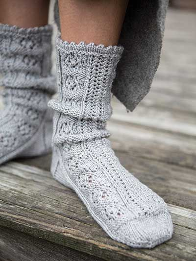 Knitting Socks : Lydia sock knit pattern download from anniescraftstore