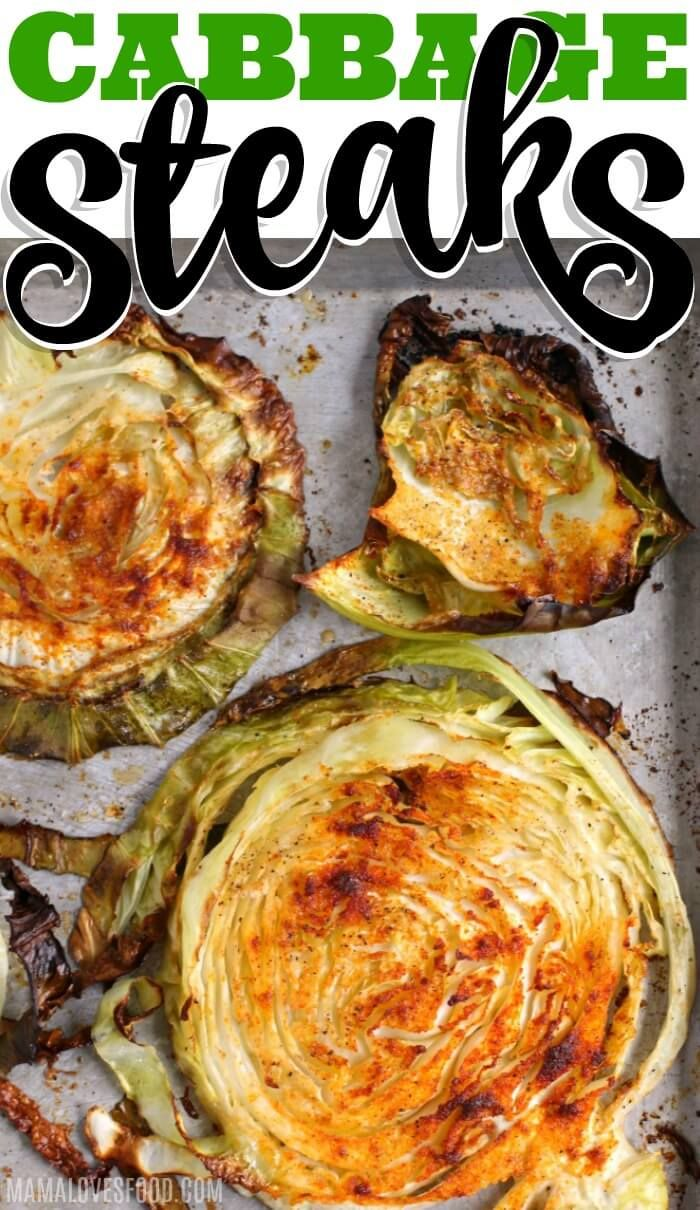 Roasted Cabbage Steaks | Mama Loves Food