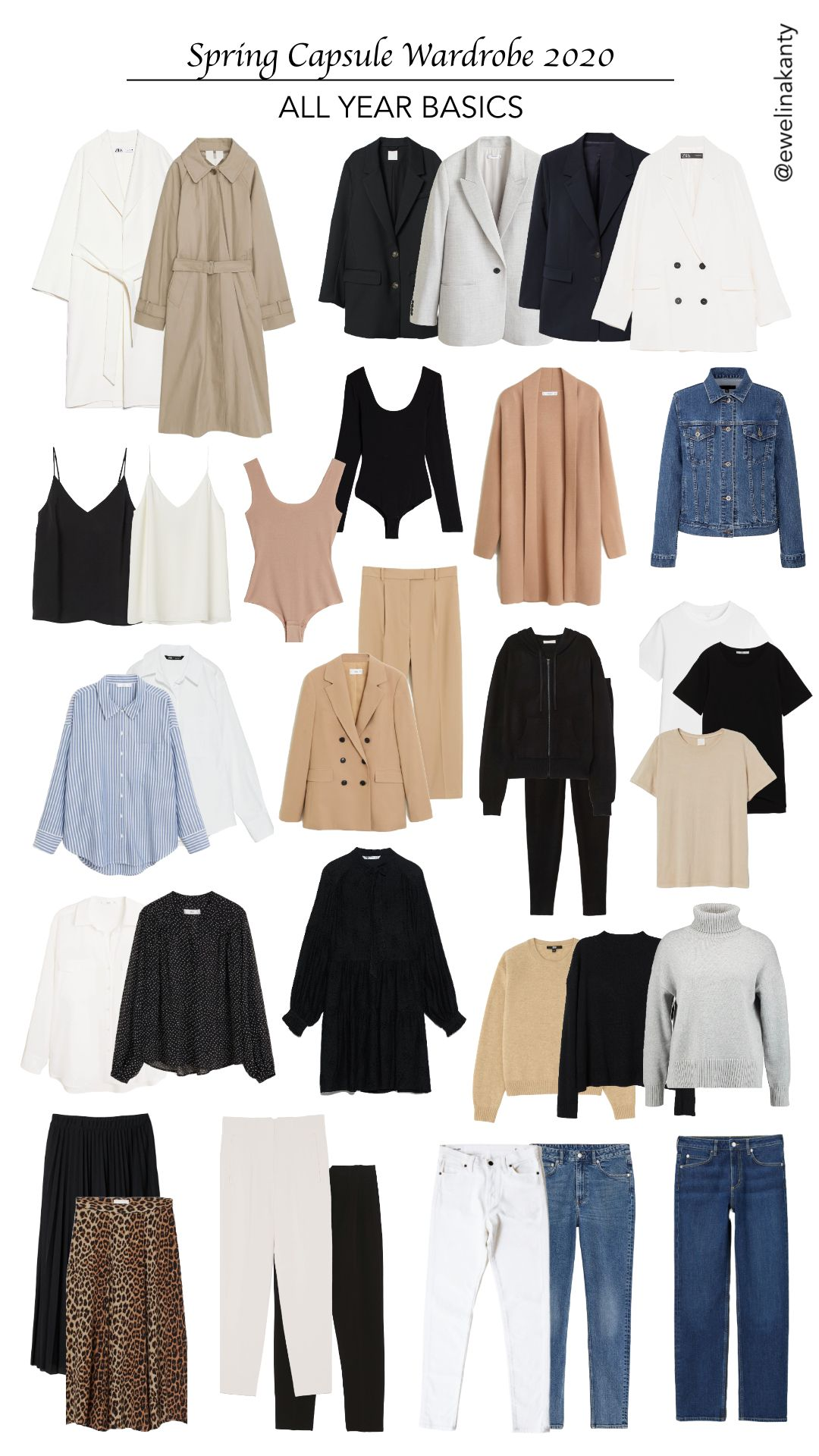 Spring Capsule Wardrobe 2020 - THE BASICS