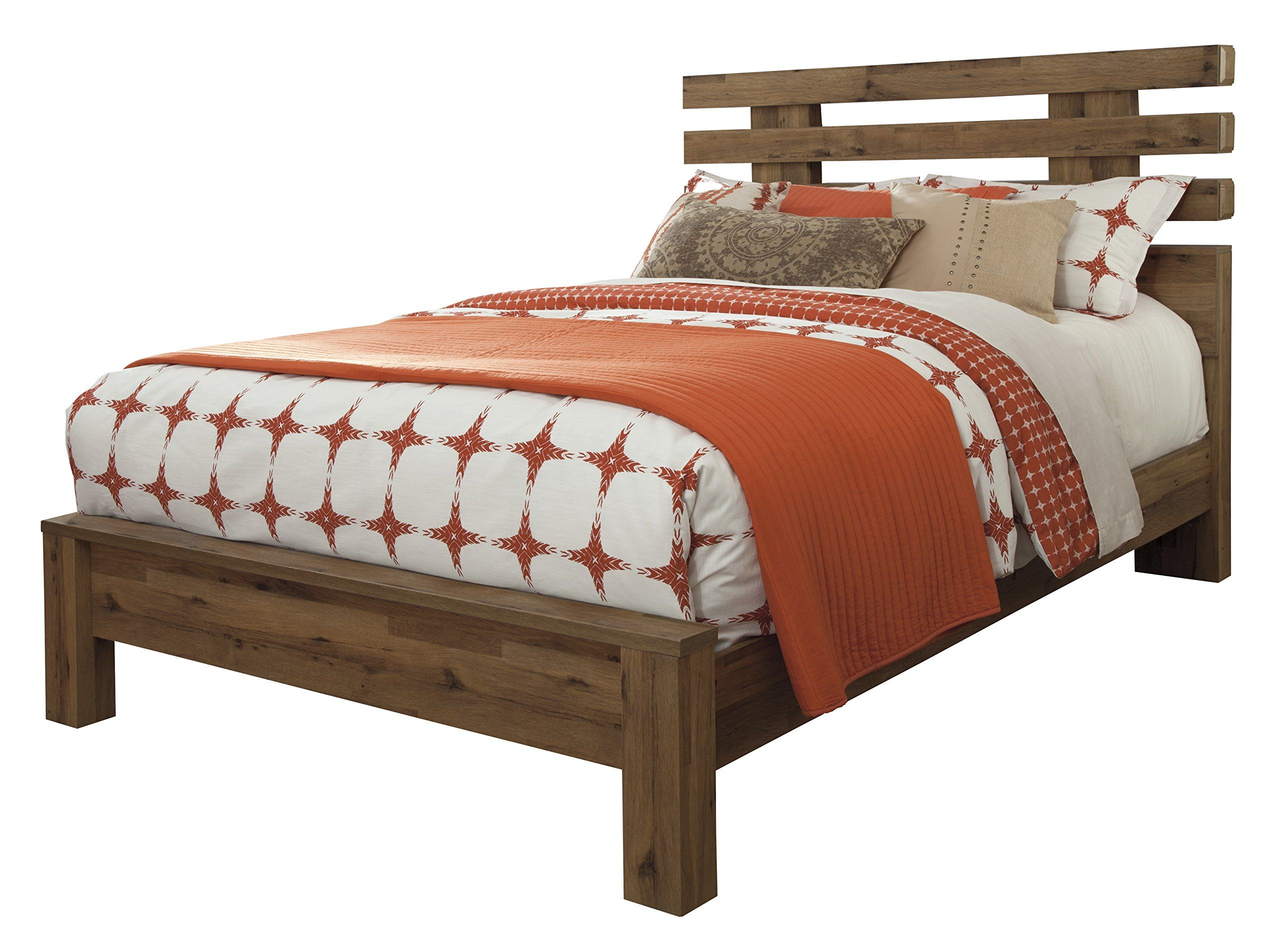 Cinrie Casual Medium Brown Bedroom Set Queen Slat Bed