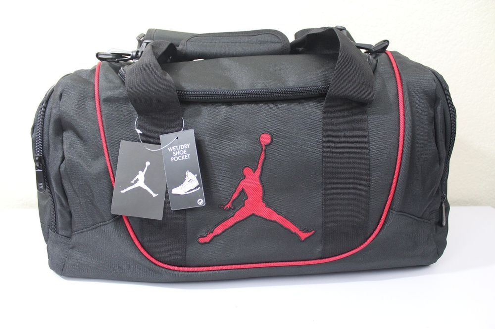 ecf78bb7c8 Nike Jordan Jump man small duffel gym bag new black 20