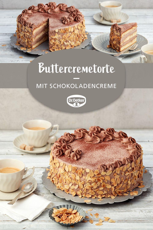 Eine cremige Torte mit Schokolade #schokotorte #schichttorte #kaffeeundkuchen