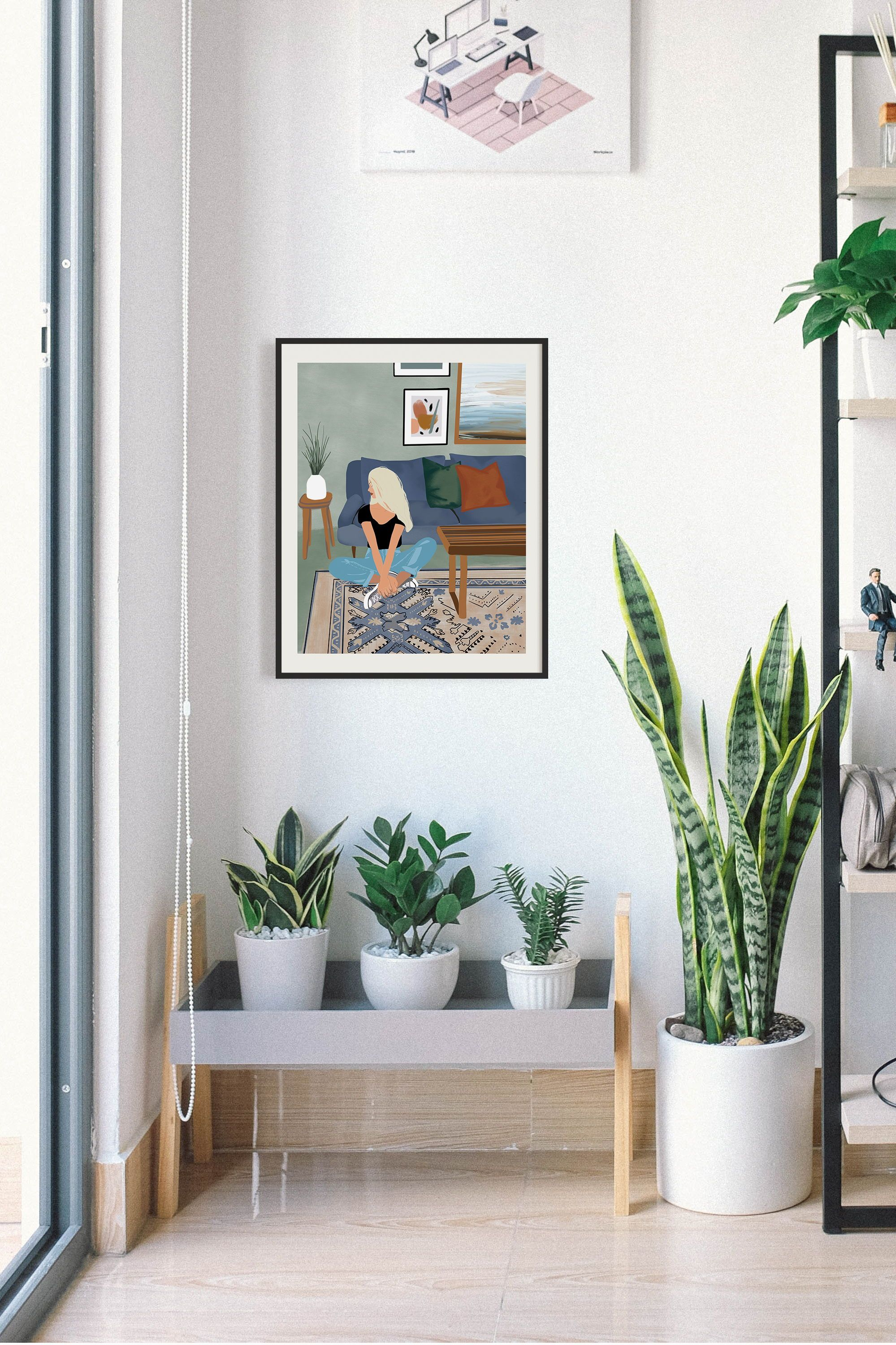Modern Boho Wall Art Prints For Your Home Perfect For Strong Women Everywhere Give As A Gift Or Hang As Hom Illustration Wall Boho Wall Art Modern Wall Decor