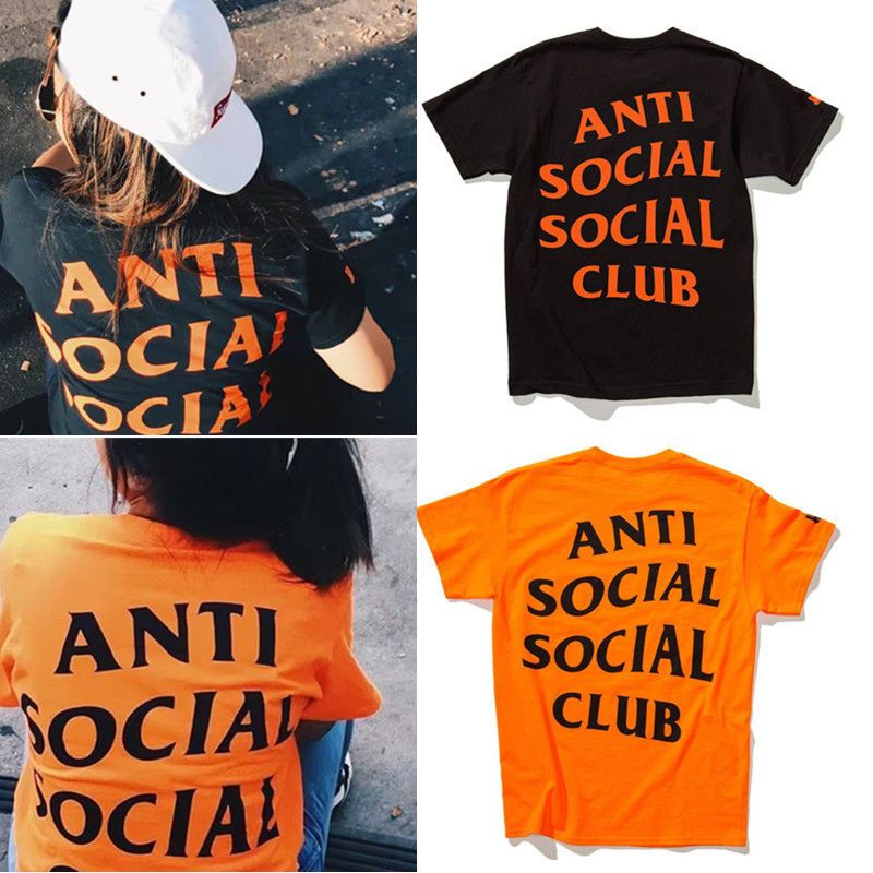 b8cc2f22d3b4 Anti Social Social Club Assc Kanye West T-Shirt Short Sleeve Tee Shirts Tops