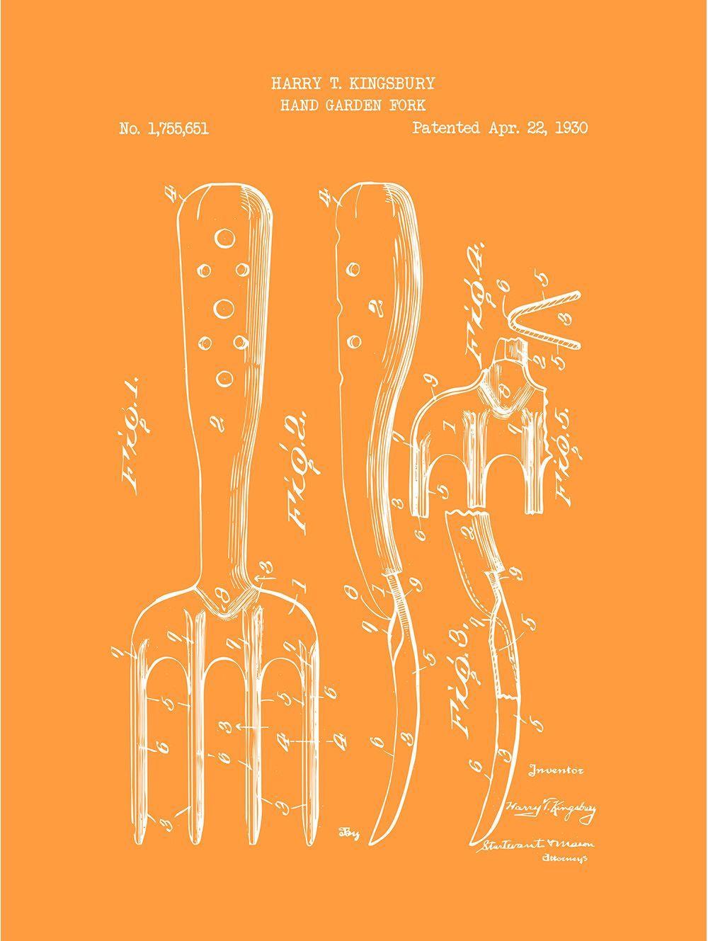 Hand Garden Fork - H. Kingsbury - 1930